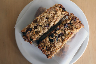 soft thick and chewy granola bars | by themoveablefeasts