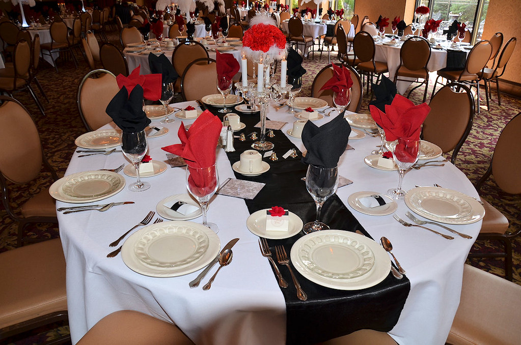 Reception Candelabra Table Setting Incorporating The