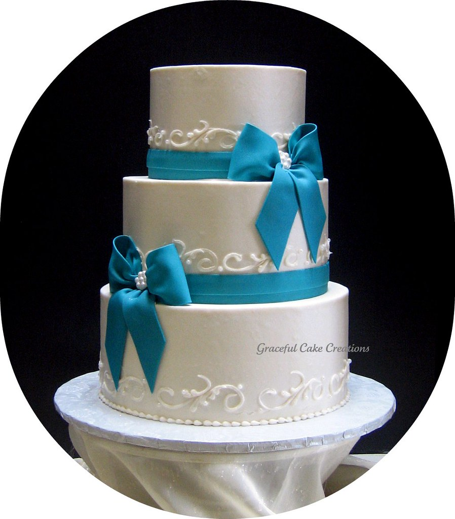teal wedding cakes pictures ivory and teal wedding cake grace tari flickr 20788