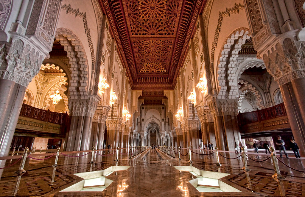 Inside Hassan Ii Mosque This Is The Only Mosque In