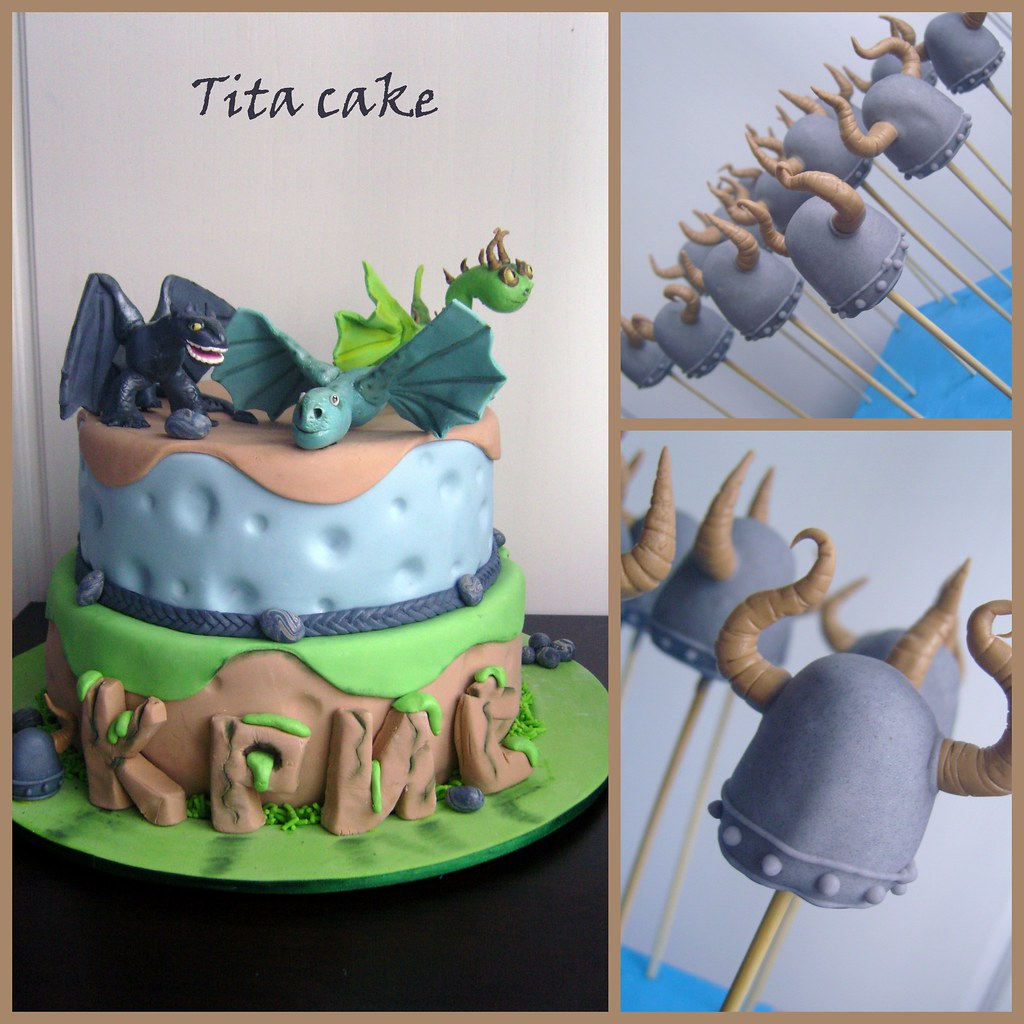 How To Train A Dragon Cake Pops