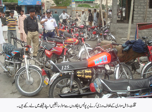 Bikes snatched by the police for violation of ban on pylon riding | by PAMIR TIMES Photos