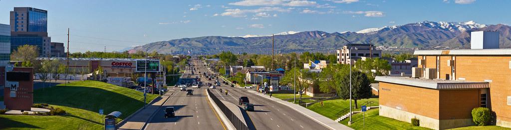 Murray Utah State Street Panorama Murray Utah Photo