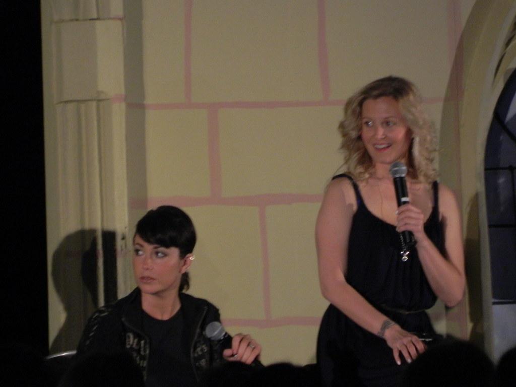Kim Rhodes and Carrie Ann Fleming