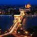Le Beau Danube en Bleu (Pont aux Chaînes) - Budapest - Hongrie