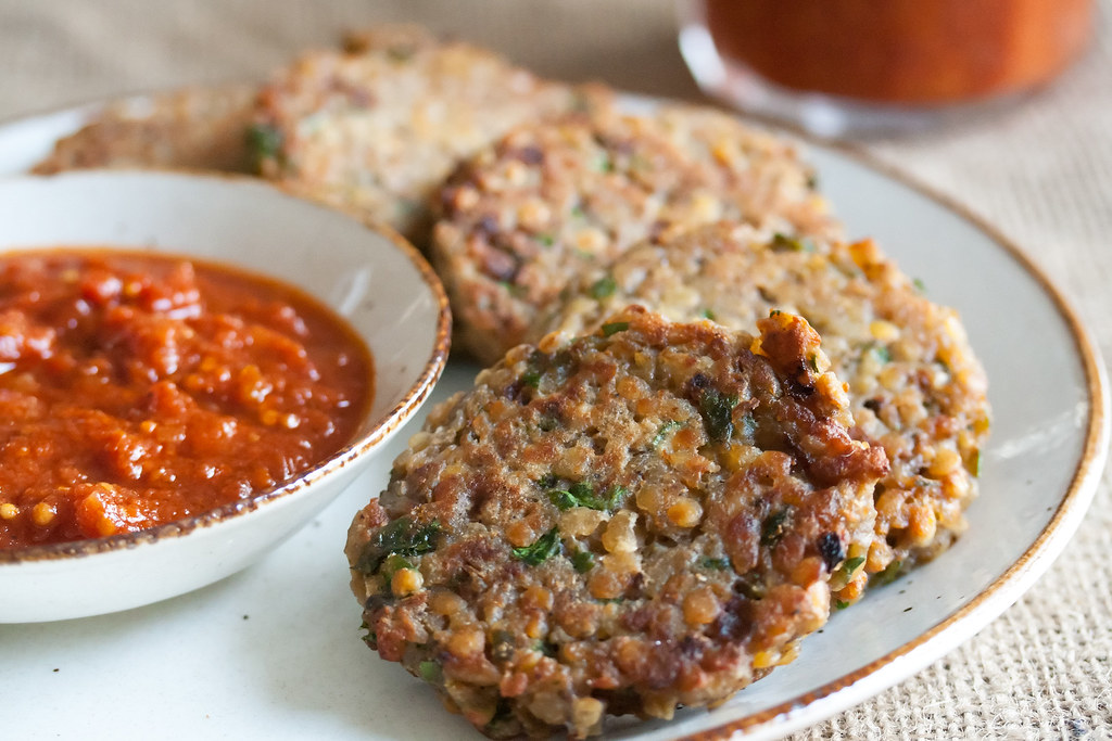 Lentil Cakes With Mushroom Cream Sauce  Minute Recipe