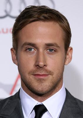 Ryan Gosling Blue Suit Brown Shoes