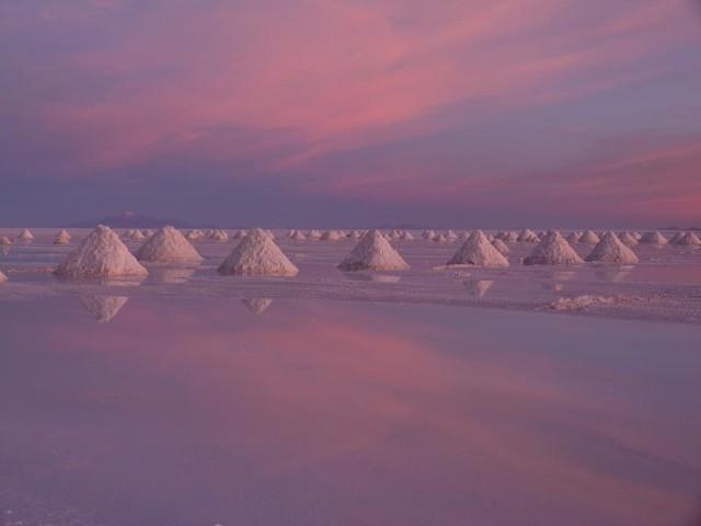 Amanecer en el Salar de Uyuni (Bolivia)