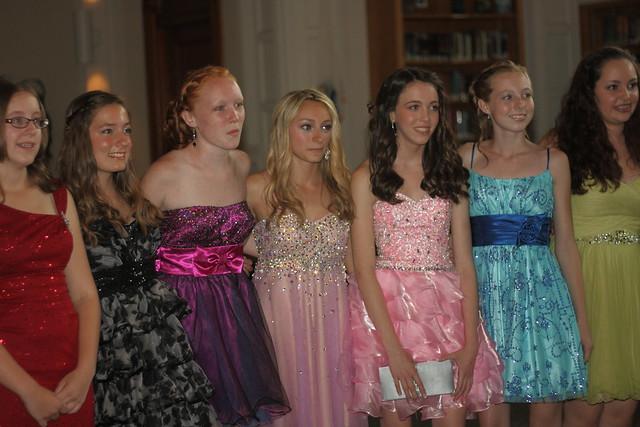8th grade semi formal dance girls posing by machris mary ann