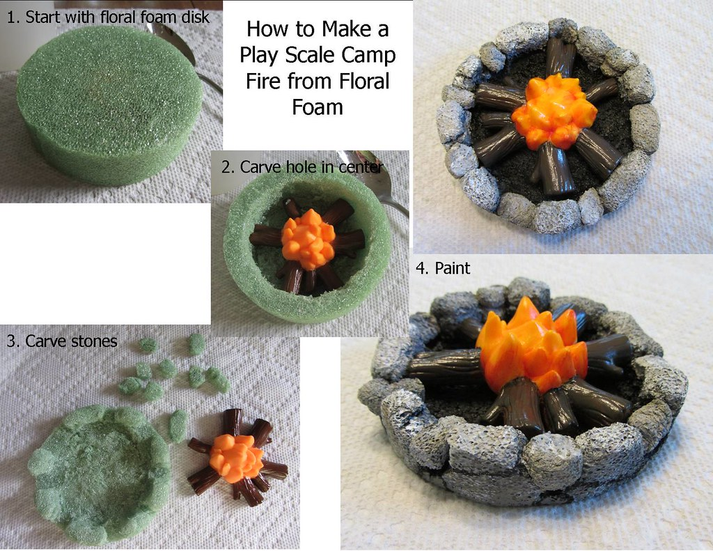 How To Make A Play Scale Camp Fire More Fun With Floral