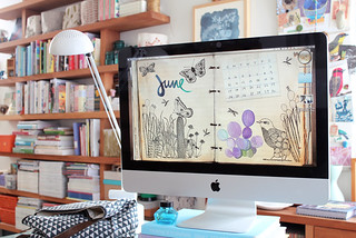 This month's free desktop calendar | by Geninne