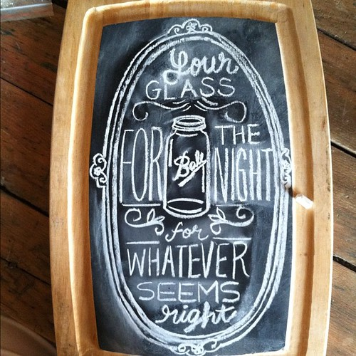 Chalkboard sign I made for our reception :) | by ello lovey