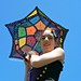Crochet Umbrella - Granny Mosaic SUNbrella And Upcycled Crochet Doily Dress