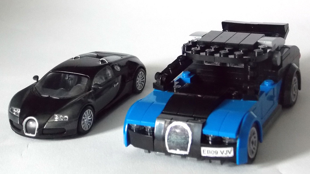 lego minifigure scale car 7 wide bugatti veyron 6 flickr. Black Bedroom Furniture Sets. Home Design Ideas