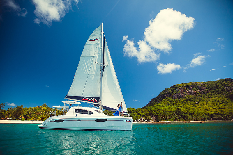 Catamaran in Seychelles