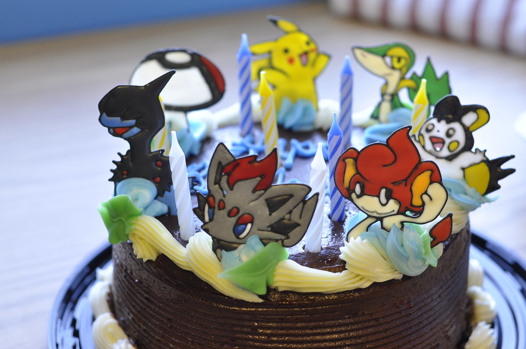 Pokemon Royal Icing Transfers on the Birthday Cake  Flickr - Photo ...