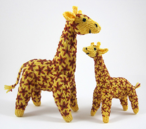 Knitting Pattern Giraffe : Knitted giraffe mother and baby The knitting pattern for t? Flickr