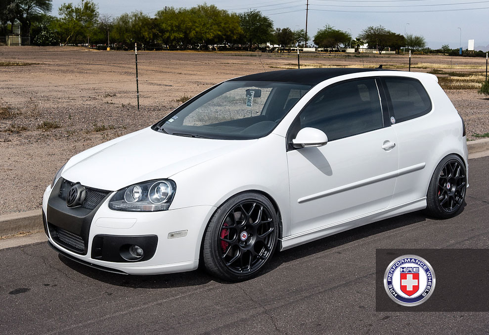 Vw Golf Gti Mk5 White P40s 18 Quot Satin Black Hre Wheels