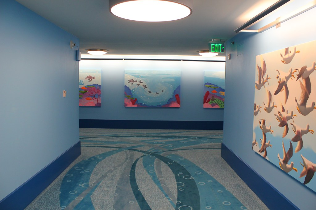 Finding Nemo Hallway At Disney S Art Of Animation Resort