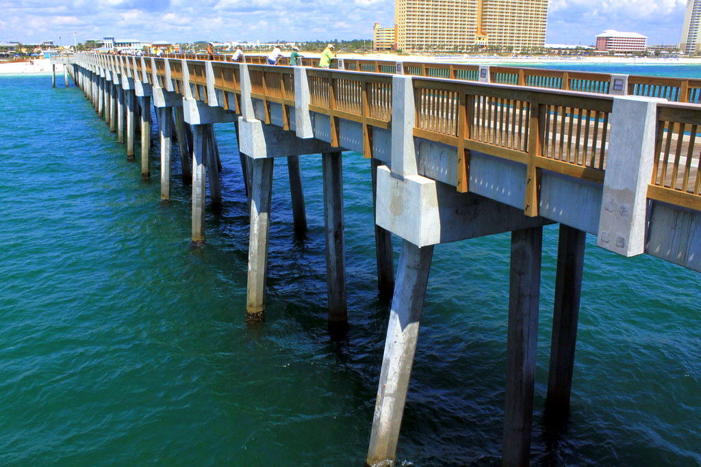 Panama city beach fishing pier most of the people you for Panama city beach fishing