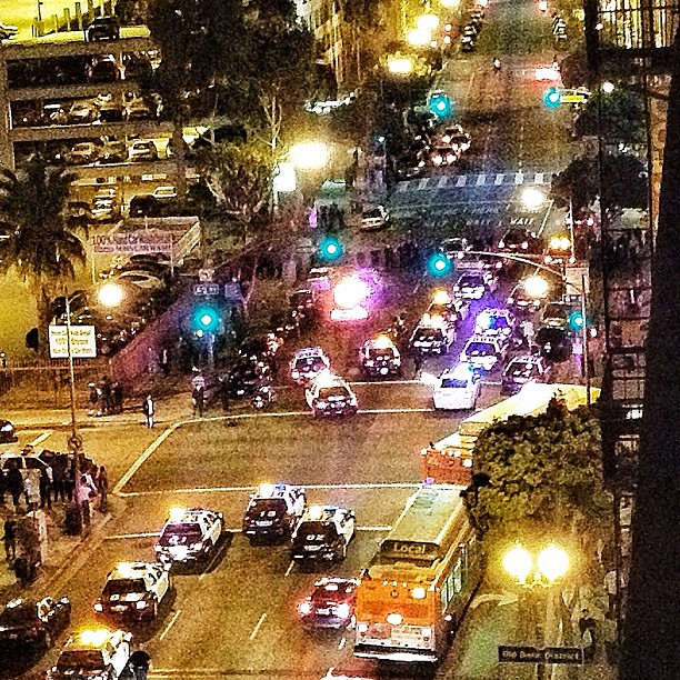 LAPD raid on Occupy Main Street 5 25 2012
