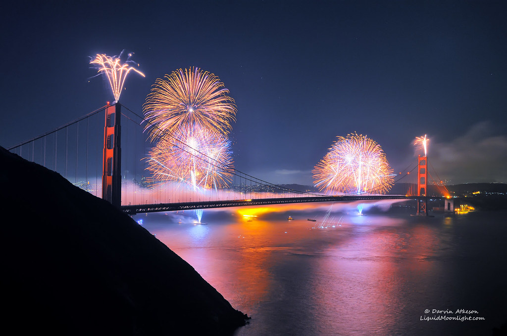 75th Anniversary Fireworks Golden Gate Bridge Best In