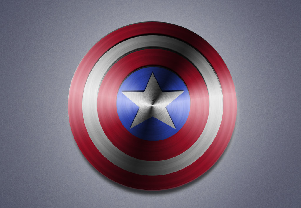 Captain America Shield Drawing: This Is A Vector Art Image. To