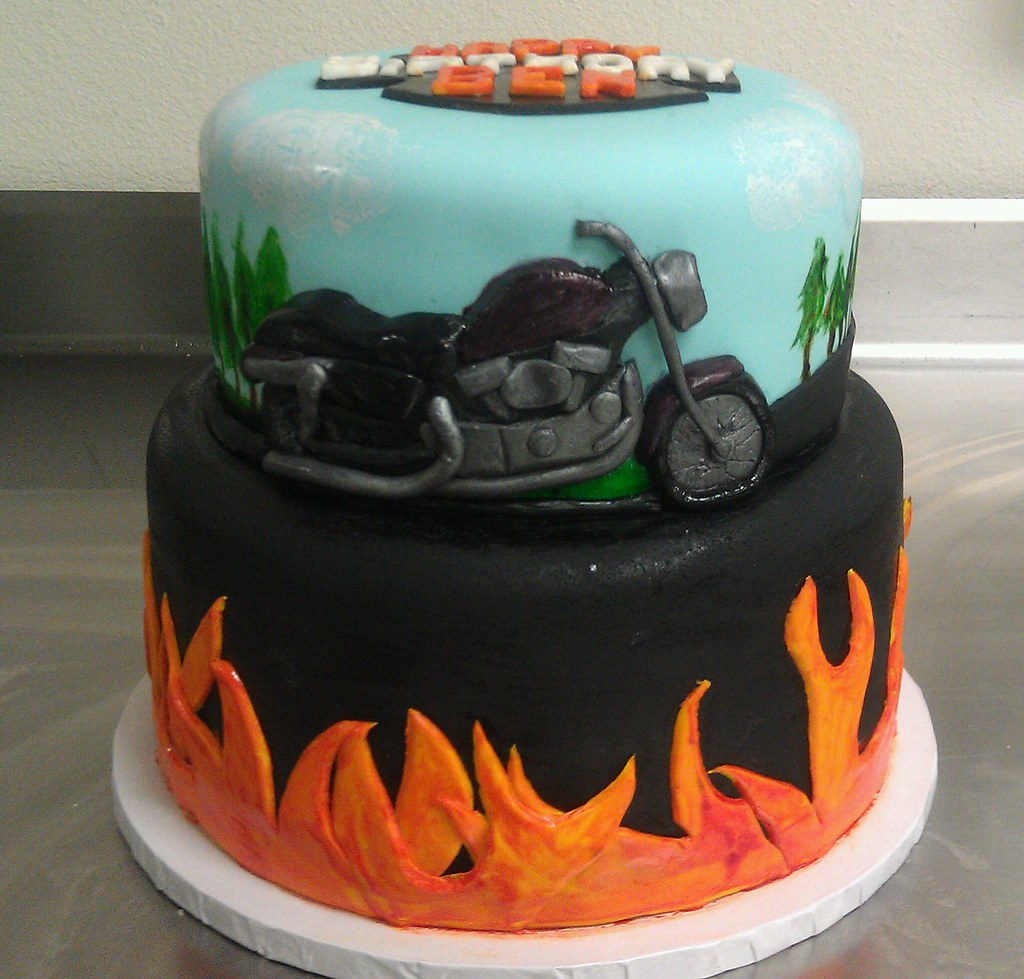 Cake Images For A Man : Motorcycle cake view 5 I was asked to make a motorcycle ...