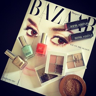 Reading & reviewing... @harpersbazaarus & @soniakashuk #magazine #makeup #fashion #beauty | by ...love Maegan