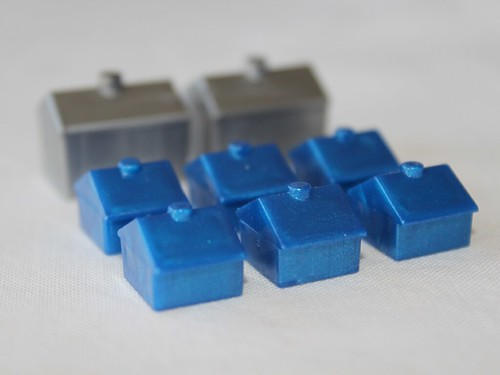 Blue Monopoly Houses and Apartments | by Philip Taylor PT