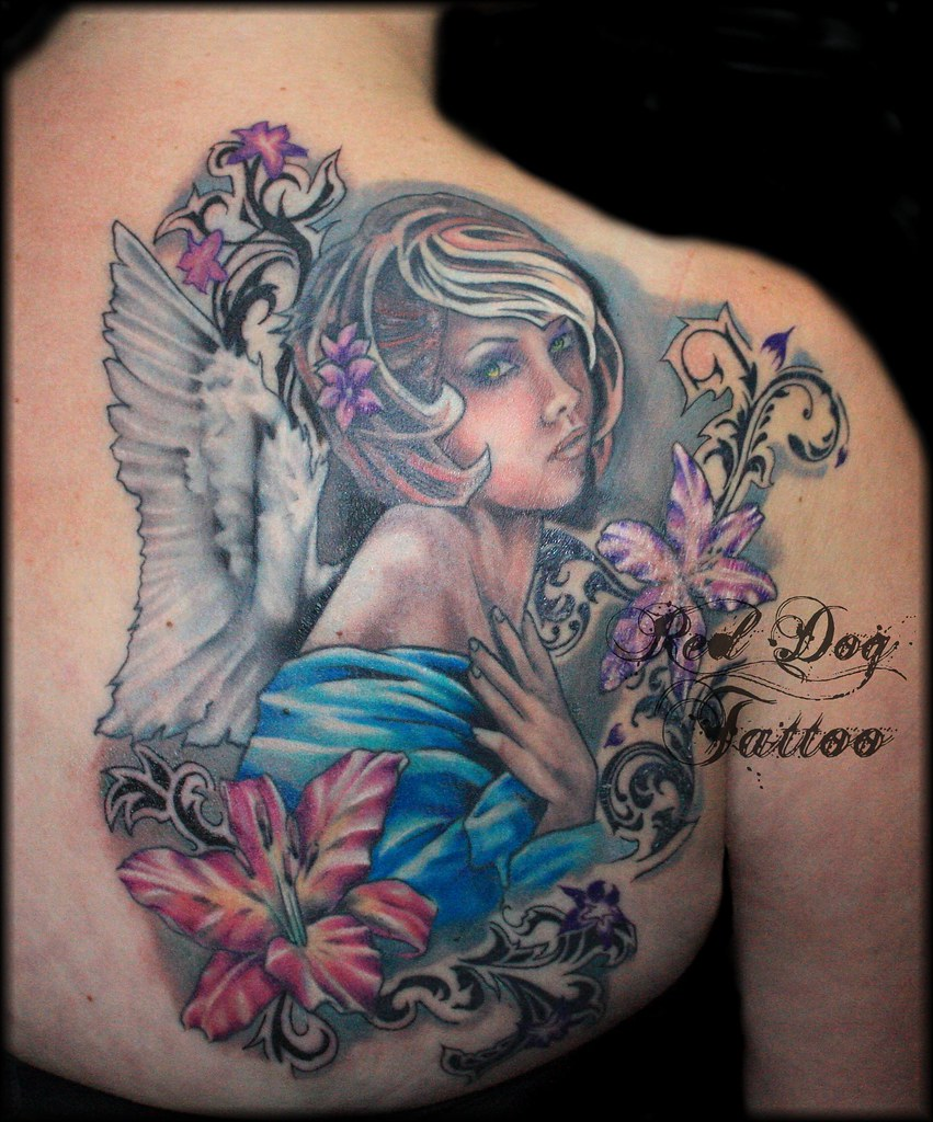 Charlies angel finished because we did a couple of for Charlie s tattoo