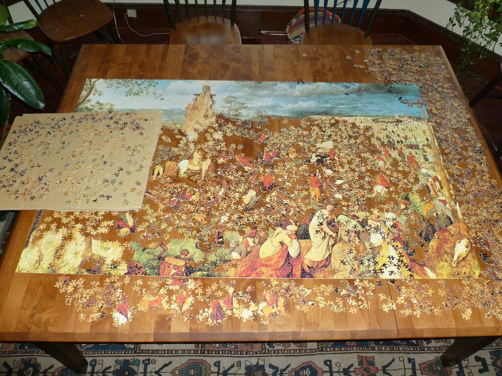 5000 piece puzzle bruegel 39 s 39 procession to calvary 39 a wo for Custom 5000 piece puzzle