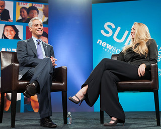 Mayor Rahm Emanuel and Laurene Powell Jobs | by NewSchools Venture Fund
