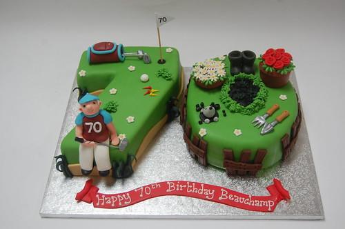 Gardening and Golf Cake Beautiful Birthday Cakes