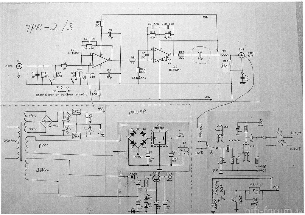 Schaltplan Tpr 2 3 V1 Internal Schematic Dynavox C2 In