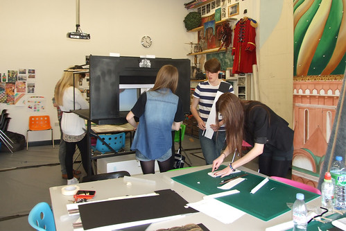 Students working on the set for the Hot House production © ROH 2012 | by Royal Opera House Covent Garden
