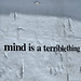 Mind is a Terrible Thing to Waste