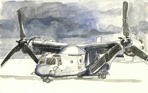 MV-22 Osprey In Watercolor | by United States Marine Corps Official Page