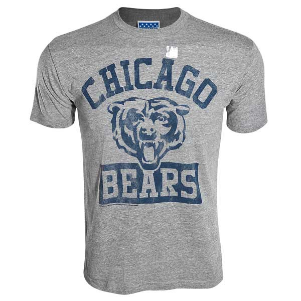 Chicago bears mens grey bear face t shirt