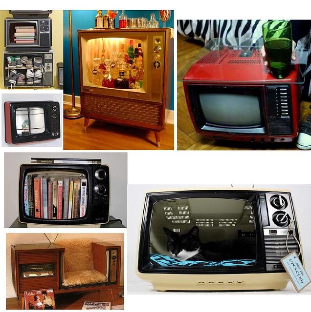 Decora o e reciclagem ideias para reutilizar tv antiga - Electrodomesticos retro ...