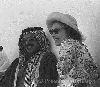 The Queen at the races in Bahrain in 1979 | by The British Monarchy