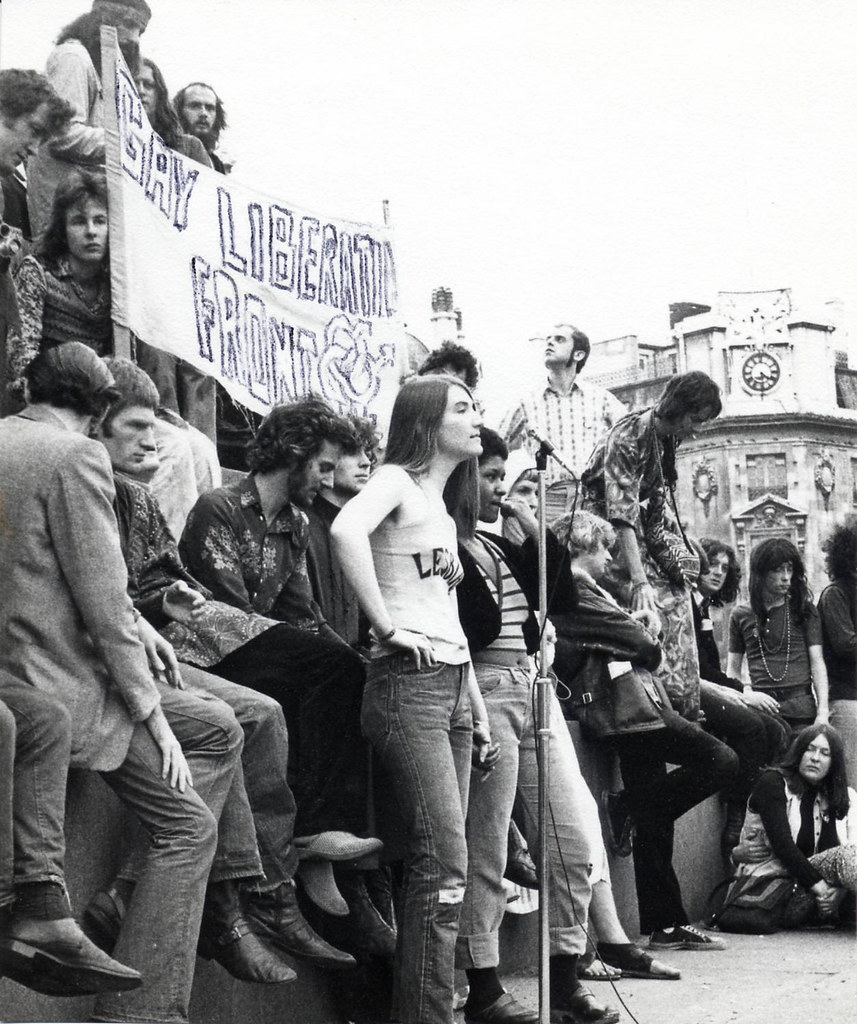 Demonstration With Gay Liberation Front Banner C1972