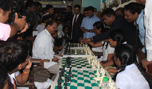 Final of Provincial level competitions of Governor's Trophy – Chess Championship 2014 held at Jaffna Hindu College – 23 April 2014