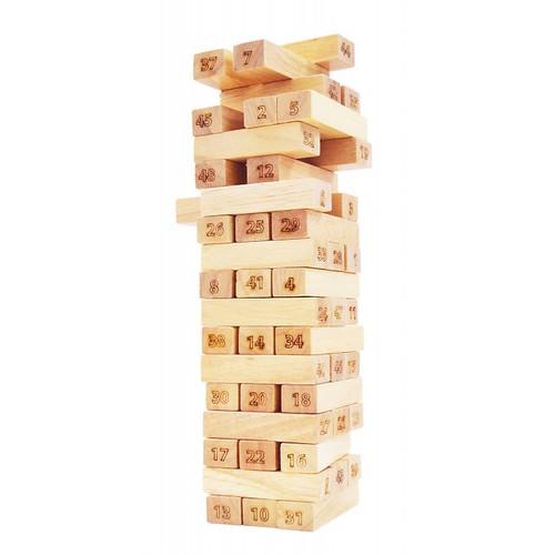 Đồ chơi gỗ - dạy làm toán -  tháp số 48 thanh