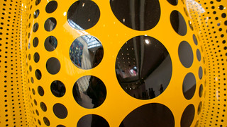 Detail of Yayoi Kusama's pumpkin at the National Musuem of Art in Osaka | by Otomodachi