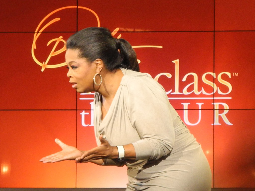 Oprah winfrey during the quot oprah s lifeclass quot taping in st flickr