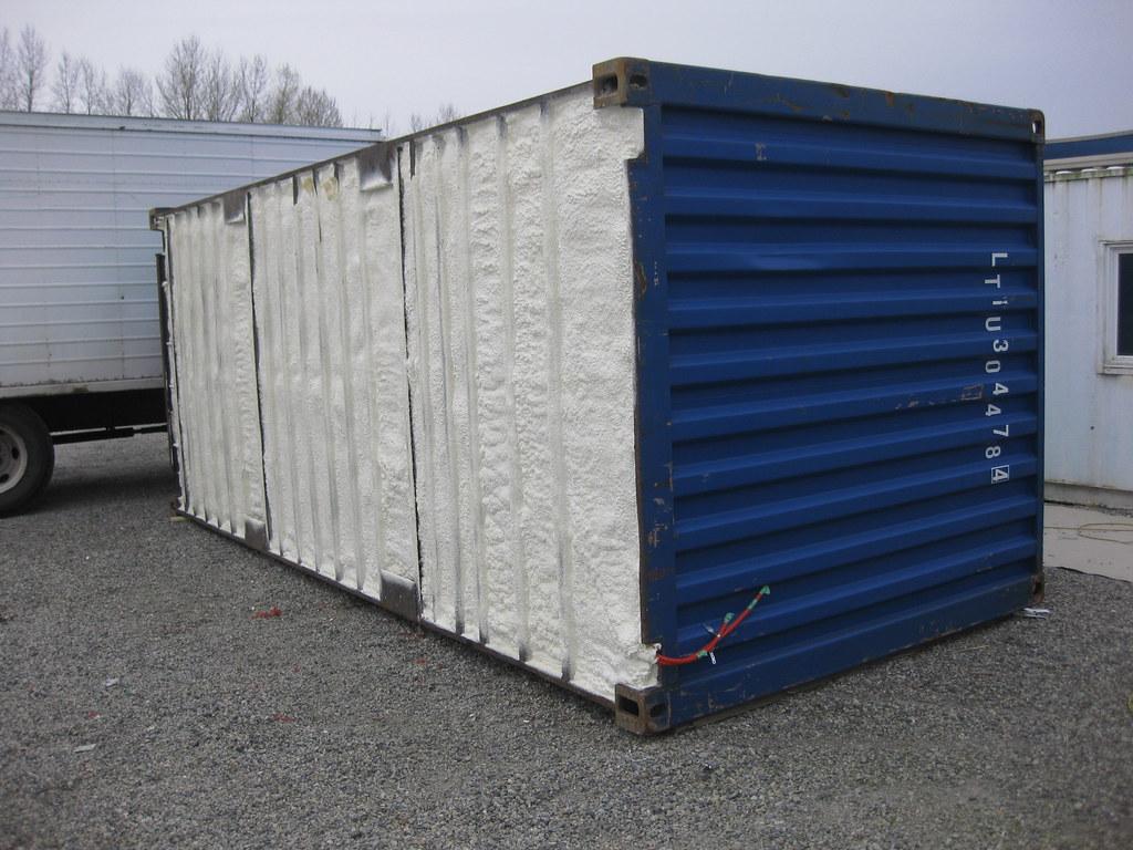 Polyurethane Foam Containers : Container floor spray foam shipping ren
