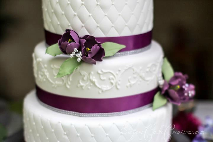 Grey And Purple Wedding Cakes
