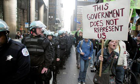 Chicago NATO This government does not represent us