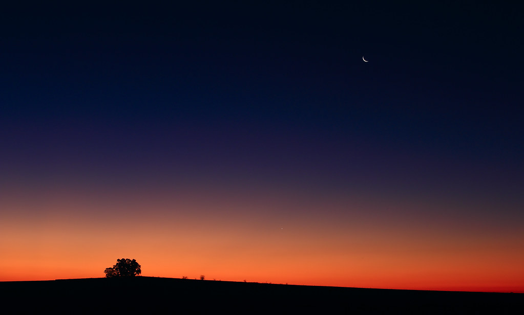 Venus in the Glow of Dusk | Planet Venus shines in the red g ... After The Sunset